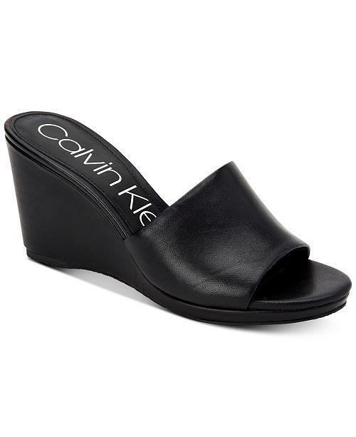 f19097cce00 ... Calvin Klein Women s Britta Wedge Sandals