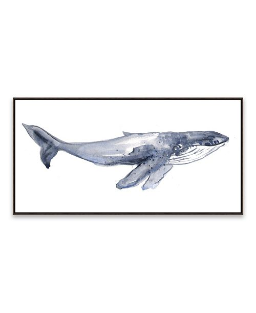 Artissimo Designs Humpback Whale Youth Framed Printed Canvas