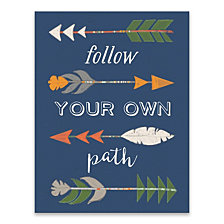 Follow Your Own Path Printed Canvas