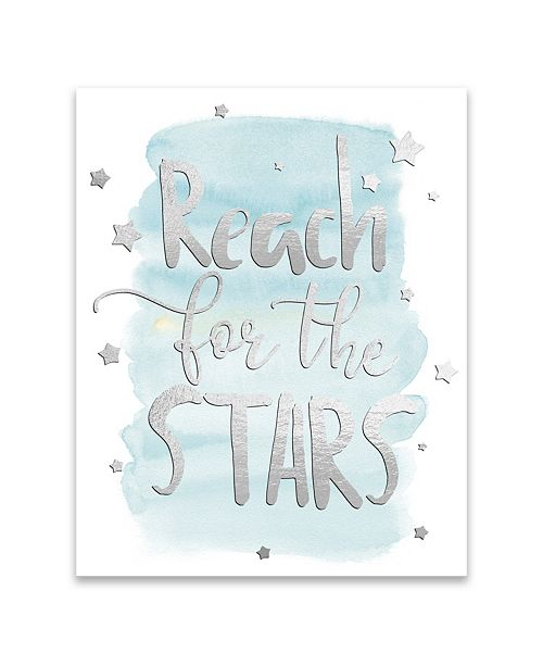 Artissimo Designs Reach For The Stars II Embellished Canvas