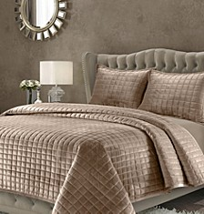 Florence Velvet Solid Oversized Quilt Sets