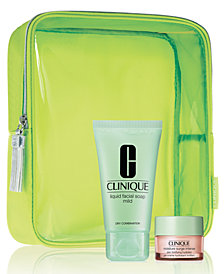 Receive a FREE Moisture Surge Intense and Cosmetics bag, plus choice of Liquid Facial Soap with $85 Clinique purchase!