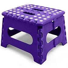 Medium Plastic Folding Stool with Non-Slip Dots