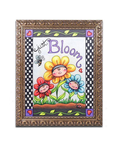 "Trademark Global Jennifer Nilsson Just Bloom Ornate Framed Art - 11"" x 14"" x 0.5"""