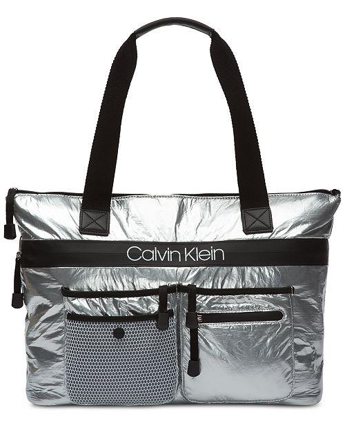 9bd9122a21f Calvin Klein Tabbie Nylon Tote & Reviews - Handbags & Accessories ...