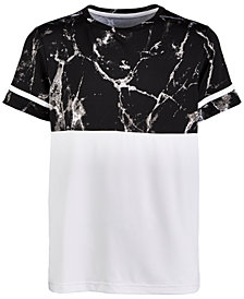Ideology Big Boys Marble-Print Colorblocked T-Shirt, Created for Macy's
