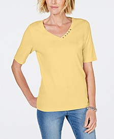 Cotton V-Neck T-Shirt, Created for Macy's