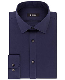 DKNY Men's Slim-Fit Performance Stretch Solid Dress Shirt, Created for Macy's