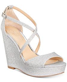 Jewel Badgley Mischka Averie Evening Wedge Sandals