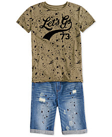 Epic Threads Big Boys T-Shirt & Denim Shorts
