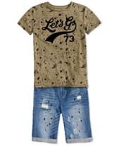 9633bd62207a Epic Threads Big Boys T-Shirt   Denim Shorts
