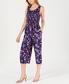 Maison Jules Printed Cropped Jumpsuit, Created for Macy's