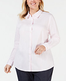 Charter Club Plus Size Shirt, Created for Macy's