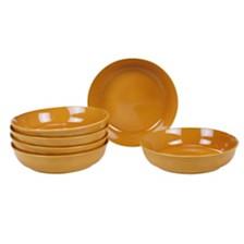 Certified International Autumn Fields Orbit Harvest Gold 6-Pc. Soup/Pasta Bowl