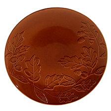 Certified International Autumn Fields Acorn Pumpkin Round Platter