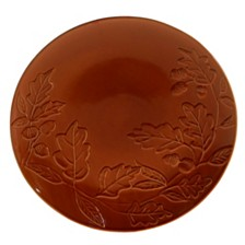Certified International Autumn Fields Acorn Pumpkin Round Platter