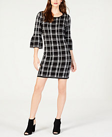 NY Collection Petite Bell-Sleeve Shift Dress