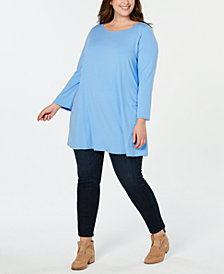 Eileen Fisher Plus Size Stretch Jersey Tunic Top