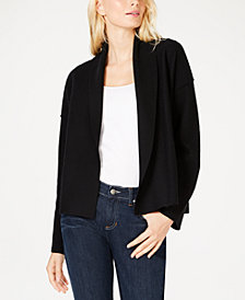 Eileen Fisher Merino Wool Shawl-Collar Jacket