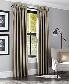 """J Queen New York Satinique Taupe 50"""" x 95"""" Drapery Pair"""