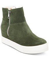 760cd1f2387 Steve Madden Wanda Faux-Fur Wedge Sneakers