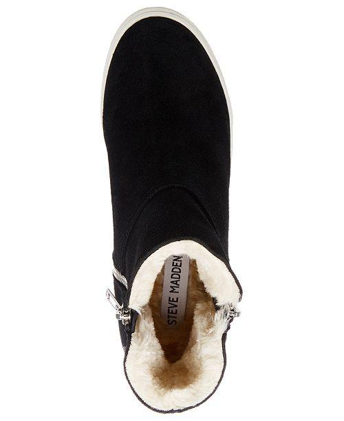 9e3bb354644 Steve Madden Wanda Faux-Fur Wedge Sneakers   Reviews - Athletic ...