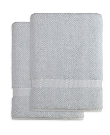 Herringbone 2-Pc. Bath Sheet Set