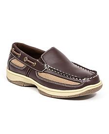Little and Big Boys Pal Classic Dress Comfort Slip-On Loafer Boat Shoe