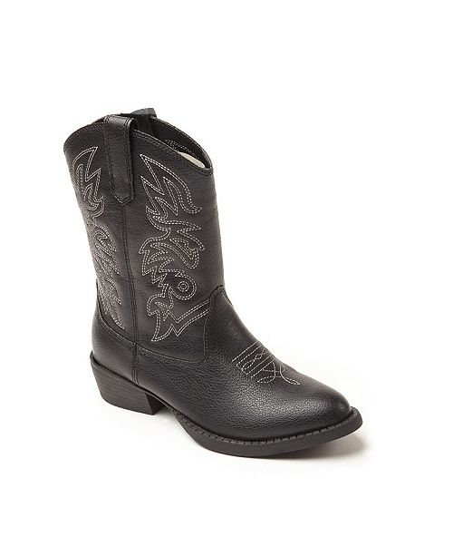 DEER STAGS Ranch Unisex Pull On Western Cowboy Fashion Comfort Boot (Little Kid/Big Kid)