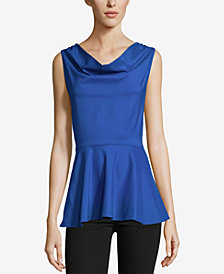 ECI Cowl-Neck Peplum Top