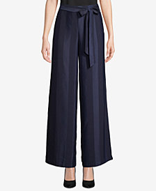 ECI Striped Wide-Leg Pants