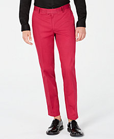 I.N.C. Mens Slim-Fit Stretch Twill Suit Pants, Created for Macy's