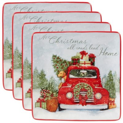 Home for Christmas 4-Pc. Dinner Plate