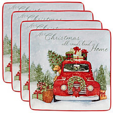 Certified International Home for Christmas 4-Pc. Dinner Plate