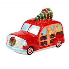 Certified International Home for Christmas 3-D Truck Cookie Jar