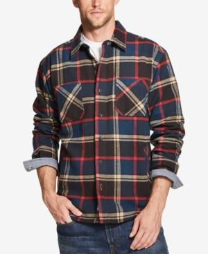 Weatherproof Vintage Mens Plaid Flannel Shirt Jacket, Created for Macys