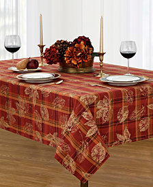 "Elrene Jeffrey Plaid 70"" Round Tablecloth"