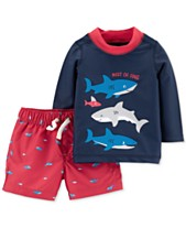 e36b5352e1 Carter's Baby Boys 2-Pc. Shark Rash Guard Swim Set