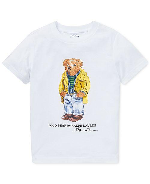 8d676218 Polo Ralph Lauren Toddler Boys Polo Bear Cotton T-Shirt & Reviews ...