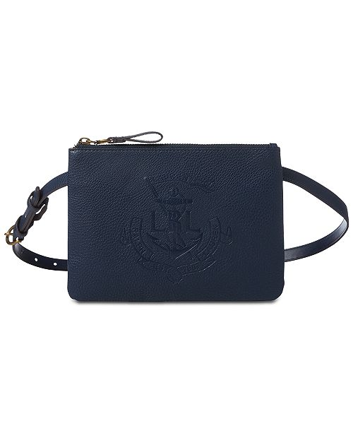 7c4a914b77 Lauren Ralph Lauren Huntley Embossed-Logo Fanny Pack   Reviews ...