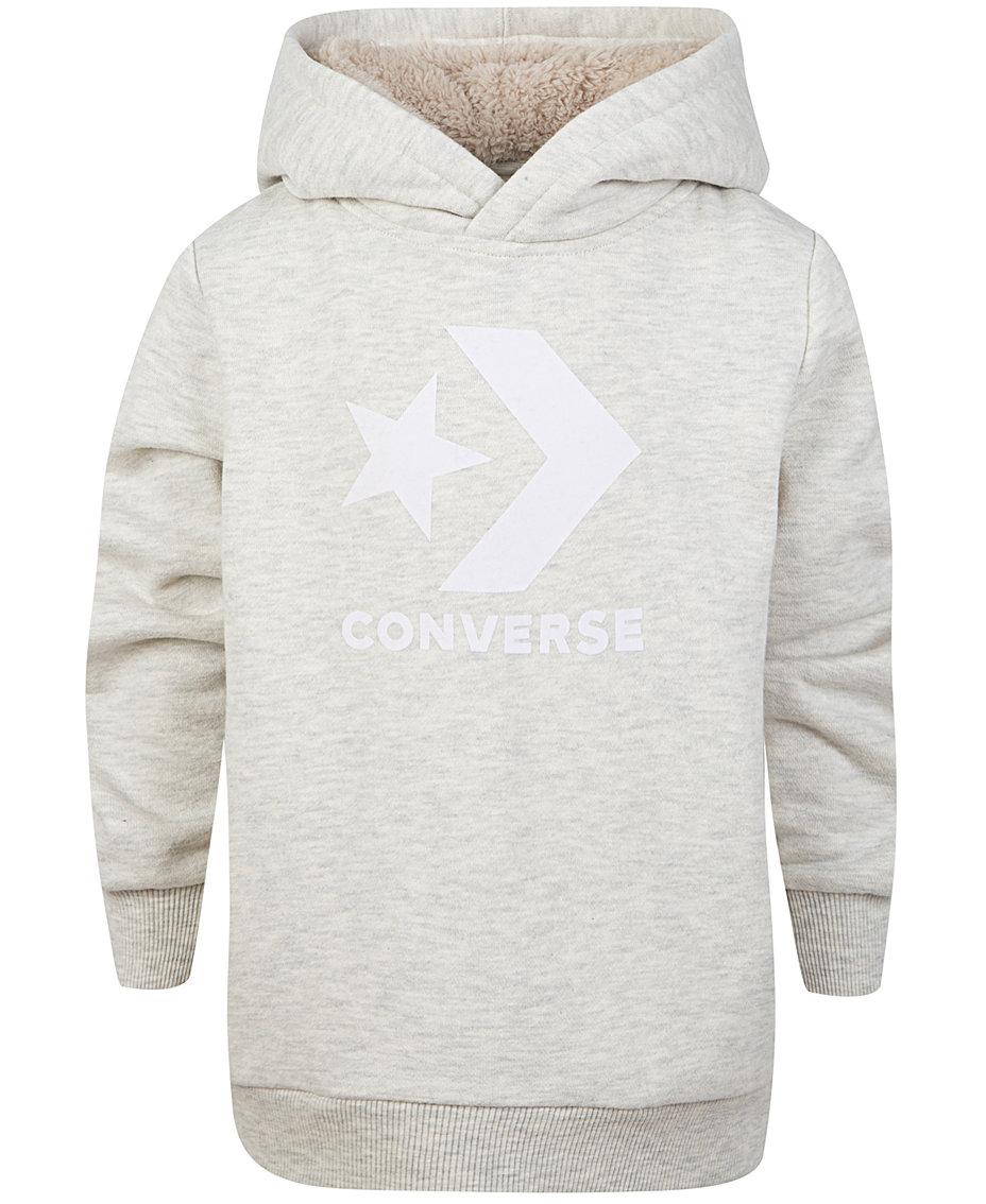 e431af9e580d Converse Big Boys Sherpa-Lined Hoodie   Reviews - Sweatshirts ...