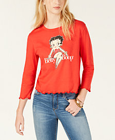 Love Tribe Juniors' Betty Boop Graphic-Print T-Shirt