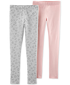 Carter's Little & Big Girls 2-Pack Leggings