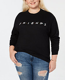 Love Tribe Plus Size Friends Logo Long-Sleeve Top