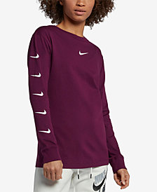 Nike Sportswear Cotton Long-Sleeve Logo Top