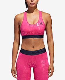 adidas AlphaSkin ClimaCool® Metallic-Print Medium-Support Sports Bra
