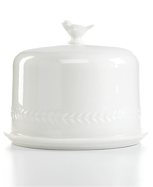 Martha Stewart Collection CLOSEOUT! Serveware, All Ceramic Bird Dome with Plate
