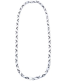"""Men's Polished Link 24"""" Chain Necklace in Sterling Silver"""