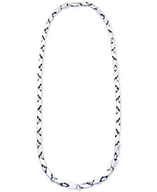 "Men's Polished Link 24"" Chain Necklace in Sterling Silver"