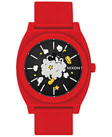 "Nixon Men's Time Teller ""Mickey Fight Cloud"" Red Strap Watch 40mm"